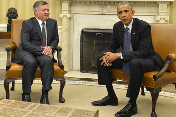Abdullah II Barack Obama Meets with King Abdullah II