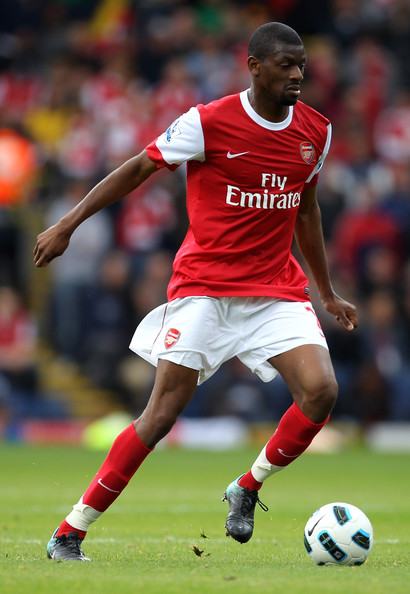 Abou Diaby Abou Diaby of Arsenal in action during the Barclays Premier League match between Blackburn Rovers and Arsenal at Ewood Park on August 28, 2010 in Blackburn, England.