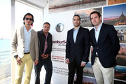 (L-R) Ali F. Mostafa, Mohamed Hefzy, Mohammed Al Turki and Robin Colgan attend Abu Dhabi Pavilion Event during the 66th Annual Cannes Film Festival on May 17, 2013 in Cannes, France.
