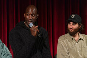 Kevin Garnett and Josh Safdie attend The Academy Of Motion Picture Arts & Sciences Hosts An Official Academy Screening Of UNCUT GEMS at MOMA - Celeste Bartos Theater on December 03, 2019 in New York City.