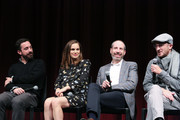 (L-R) Director Pablo Larrain, actress Natalie Portman, writer Noah Oppenheim and producer Darren Aronofsky attend a panel discussion following the Official Academy Screening of JACKIE, hosted by the Academy of Motion Picture Arts and Sciences at MOMA on November 29, 2016 in New York City.