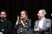 (L-R) Director Pablo Larrain, actress Natalie Portman and writer Noah Oppenheim attend a panel discussion following the Official Academy Screening of JACKIE, hosted by the Academy of Motion Picture Arts and Sciences at MOMA on November 29, 2016 in New York City.