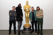 Benny Safdie, Kevin Garnett, Adam Sandler and Josh Safdie attend The Academy Of Motion Picture Arts & Sciences Hosts An Official Academy Screening Of UNCUT GEMS at MOMA - Celeste Bartos Theater on December 03, 2019 in New York City.