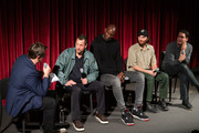Joshua Rothkopf, Adam Sandler, Kevin Garnett Josh Safdie and Benny Safdie attend The Academy Of Motion Picture Arts & Sciences Hosts An Official Academy Screening Of UNCUT GEMS at MOMA - Celeste Bartos Theater on December 03, 2019 in New York City.