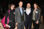 Sophie Gluck, Laszlo Nemes, Carmelo Pirrone and Zsofia Princz attend The Academy Of Motion Picture Arts And Sciences New Member Reception In New York at Lincoln Ristorante on October 5, 2015 in New York City.