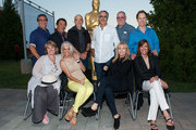 Curt Sobel, Nancy Klopper, Richard Chew, Shera Danese, Paul Brickman, Jon Avnet, Rebecca De Mornay, Richard Masur, Sarah Partridge and Raphael Sbarge attends The Academy Of Motion Picture Arts And Sciences' Oscars Outdoors Screening Of 'Risky Business' on July 17, 2013 in Hollywood, California.