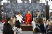 (L-R) Amy Pascal, Laura Dern, and Greta Gerwig speak onstage during the Academy of Motion Picture Arts & Sciences' Women's Initiative New York luncheon, in partnership with E! Entertainment and with the support of Swarovski on October 02, 2019 in New York City.