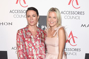 Photographer Garance Dore and footwear designer Jessie Randall attends the Accessories Council's 21st Annual celebration of the ACE awards at Cipriani 42nd Street  on August 7, 2017 in New York City.
