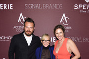 (L-R) Adam Meek, Rachael Harris, and Kate Minner pose with the Sustainaility Award award backstage at the Accessories Council Hosts The 23rd Annual ACE Awards on June 10, 2019 in New York City.