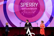 (L-R)  Rachael Harris, Adam Meek,  Kate Minner appear onstage as the Accessories Council Hosts The 23rd Annual ACE Awards on June 10, 2019 in New York City.