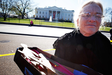 Gael Murphy Activist Group CodePink Protests Against The War In Afghanistan