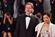"""Brad Pitt and Ruth Negga walk the red carpet ahead of the """"Ad Astra"""" screening during during the 76th Venice Film Festival at Sala Grande on August 29, 2019 in Venice, Italy."""