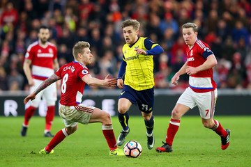 Adam Clayton Middlesbrough v Oxford United - The Emirates FA Cup Fifth Round