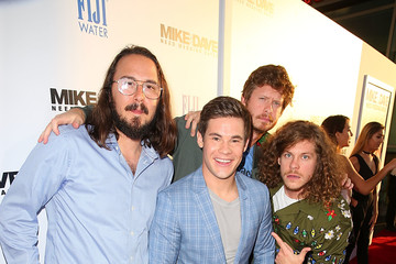 Adam DeVine Anders Holm FIJI Water at 'Mike and Dave Need Wedding Dates' Red Carpet Screening