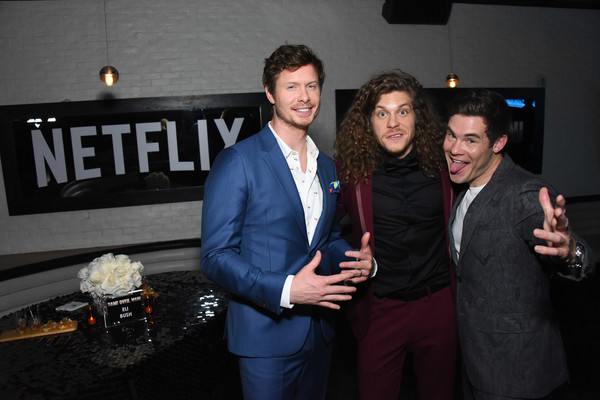 Premiere Of Netflix's 'Game Over, Man!' - After Party [game over,event,fun,suit,formal wear,party,man,blake anderson,adam devine,anders holm,regency village theatre,netflix,premiere,premiere,party]