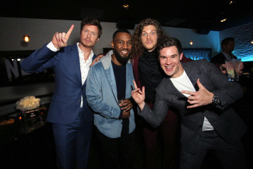 Adam DeVine Blake Anderson The Premiere Of Netflix Film 'Game Over, Man!' At The Regency Village Westwood In Los Angeles