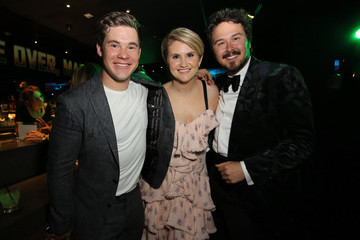Adam DeVine Kyle Newacheck The Premiere Of Netflix Film 'Game Over, Man!' At The Regency Village Westwood In Los Angeles