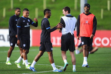 Adam Johnson Ashley Cole England Training Session and Press Conference