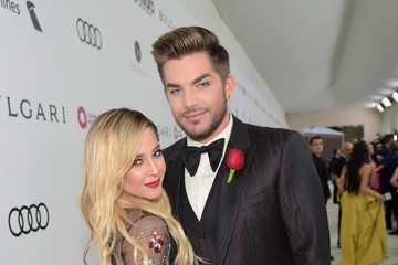 Adam Lambert 25th Annual Elton John AIDS Foundation's Oscar Viewing Party With Cocktails by Clase Azul Tequila and Chopin Vodka