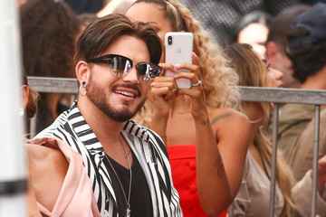 Adam Lambert Simon Cowell Honored With Star On The Hollywood Walk Of Fame
