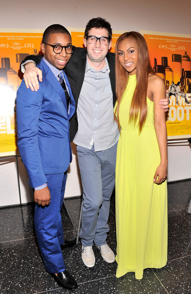 'Gimme the Loot' NYC Premiere [yellow,event,fashion,premiere,suit,fashion design,dress,electric blue,formal wear,style,ty hickson,tashiana washington,adam leon,gimme the loot,new york city,moma,new york premiere]