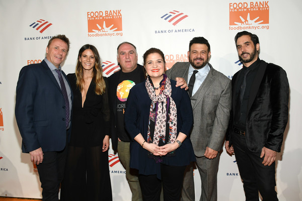 Food Bank For New York City Can-Do Awards Dinner - Arrivals [event,award,team,premiere,suit,company,alex guarnaschelli,arrivals,guest,jose andres,adam richman,dinner,honoree,l-r,food bank for new york city,awards dinner]