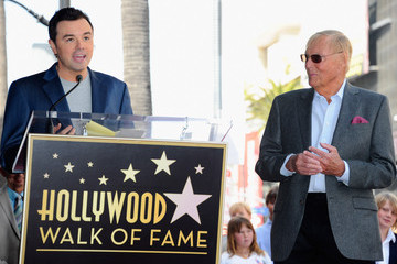 Adam West Seth MacFarlane Adam West Honored On The Hollywood Walk Of Fame