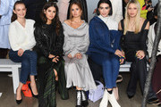 (L-R)  Andi Matichak, Paola Alberdi, Debby Ryan,  Brittany Xavier and Sophia Macks attend the Adeam FW19 front row during New York Fashion Week: The Shows at Gallery II at Spring Studios on February 9, 2019 in New York City.