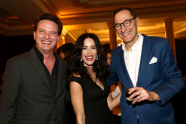 AMC TCA Evening Event [event,formal wear,suit,fun,smile,white-collar worker,president,ceo,aden young,abigail spencer,josh sapan,l-r,pasadena,amc networks,amc tca evening event,amc networks evening event,josh sapan,getty images,photography,stock photography,aden young,livingly media,royalty-free,image]