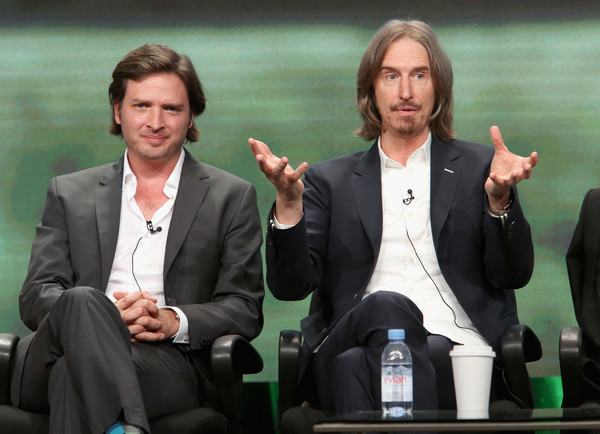 SundanceTV TCA Panel for 'Rectify' [event,white-collar worker,conversation,gesture,suit,spokesperson,business,businessperson,television presenter,aden young,ray mckinnon,creator,writer,l-r,portion,sundancetv tca panel for ``rectify,executive producer,l,panel discussion]