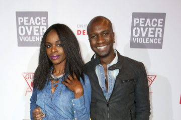 Adetokumboh M'Cormack GUESS Foundation and Peace Over Violence Denim Day Cocktail Event at MOCA