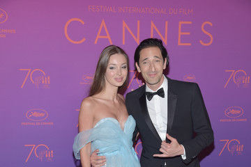 Adrien Brody Lara Leito Opening Gala Dinner Arrivals - The 70th Annual Cannes Film Festival