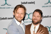 Jimmi Simpson (L) and Daniel Stessen attends Adult Swim's DREAM CORP LLC Season 2 Premiere at Ace Hotel on October 17, 2018 in Los Angeles, California.
