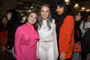 (L-R) Samantha Barry, Iskra Lawrence, and Jameela Jamil attend as Aerie celebrates #AerieREAL Role Models in NYC on January 31, 2019 in New York City.