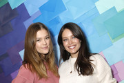 (L-R) Nina Agdal and Emily DiDonato  attend as Aerie celebrates an Evening Of Change with with the #AerieREAL Role Models at The Blond on January 23, 2020 in New York City.