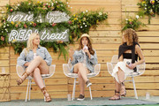 (L-R)  Iskra, Aly Raisman and Cleo Wade speak onstage during Aerie REALTreat in Collaboration with Create & Cultivate on June 08, 2019 in Los Angeles, California.