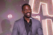 Sterling K. Brown speaks onstage at The African American Film Critics Association's 11th Annual AAFCA Awards at Taglyan Cultural Complex on January 22, 2020 in Hollywood, California.