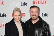 """Jane Fallon and comedian Ricky Gervais attends the """"After Life"""" For Your Consideration Event at Paley Center For Media on March 07, 2019 in New York City."""