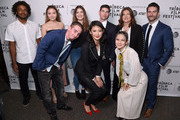 "Dillon McCooty, Lauren Hogg, Sam Zeif, Brooke Harrison, directors Emily Taguchi, Jake Lefferman, Victoria Gonzales with producers Jeanmarie Condon and Steven Baker attend the ""After Parkland"" screening at the 2019 Tribeca Film Festival at SVA Theater on April 26, 2019 in New York City."