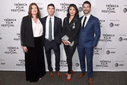 "Producer Jeanmarie Condon, director Jake Lefferman, director Emily Taguchi and producer Steven Baker attend the ""After Parkland"" screening at the 2019 Tribeca Film Festival at SVA Theater on April 26, 2019 in New York City."