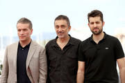 """(L-R) Actor Murat Cemcir, director Nuri Bilge Ceylan and actor Dogu Demirkol attend """"Ahlat Agaci"""" Photocall during the 71st annual Cannes Film Festival at Palais des Festivals on May 19, 2018 in Cannes, France."""