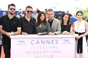 "(L-R) Actor Dogu Demirkol, director Nuri Bilge Ceylan, writer Ebru Ceylan, Murat Cemcir, actress Bennu Yildirimlar and actress Hazar Erguclu attends ""Ahlat Agaci"" Photocall during the 71st annual Cannes Film Festival at Palais des Festivals on May 19, 2018 in Cannes, France."