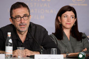 "Nuri Bilge Ceylan (L) and Ebru Ceylan attends ""Ahlat Agaci"" Press Conference during the 71st annual Cannes Film Festival at Palais des Festivals on May 19, 2018 in Cannes, France."