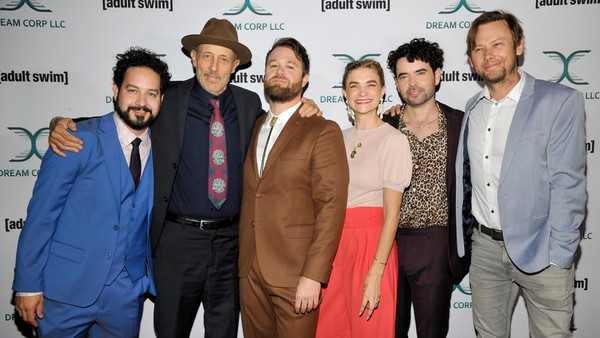 2018 Getty Entertainment [event,premiere,suit,white-collar worker,content,l-r,bharoocha,nicholas rutherford,megan ferguson,jon gries,daniel stessen,jimmi simpson,getty entertainment,adult swim]