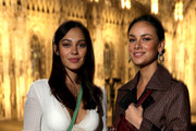 Nilam Farooq and Janina Uhse attend the Aigner show at Milan Fashion Week Autumn/Winter 2019/20 on February 22, 2019 in Milan, Italy.