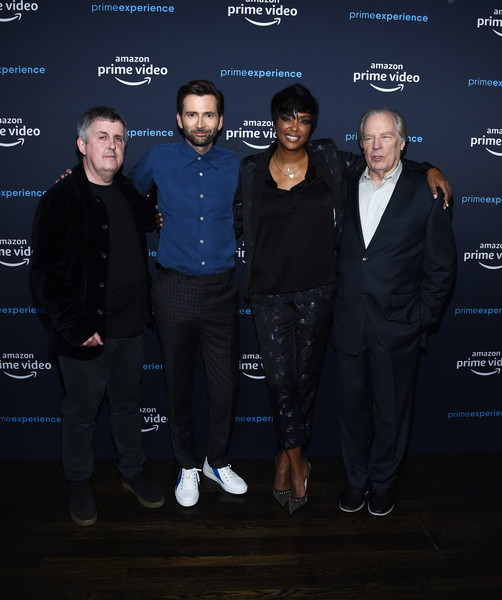 For Your Consideration Screening Of Amazon Studios' 'Good Omens' [good omens,premiere,event,suit,night,team,aisha tyler,michael mckean,david tennant,douglas mackinnon,screening,l-r,for your consideration screening of amazon studios,for your consideration,the hollywood athletic club]