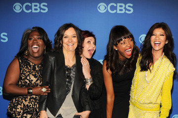 Aisha Tyler Sara Gilbert Celebs Attend the CBS Upfront Event in NYC
