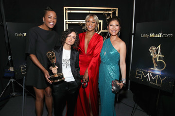 Aisha Tyler Sara Gilbert DailyMail.com And DailyMailTV Trophy Room Daytime Emmy Awards 2018