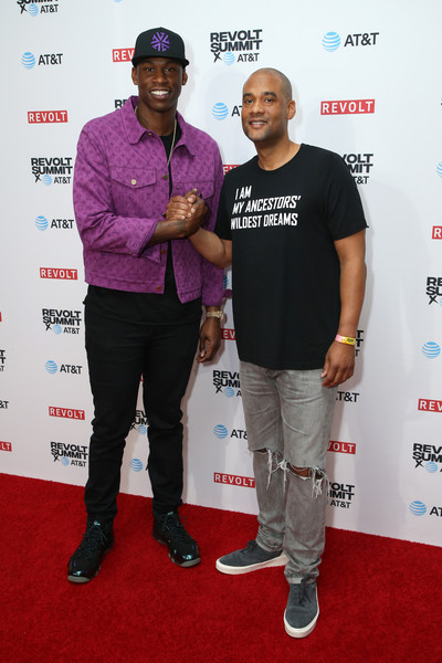 REVOLT X AT&T Host REVOLT 3-Day Summit In Los Angeles - Day 2 [red carpet,carpet,event,premiere,fashion design,flooring,magenta,award,performance,karim webb,al harrington,magic box,los angeles,california,revolt x,at t,l,host revolt]