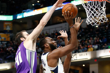 Al Jefferson Sacramento Kings v Indiana Pacers